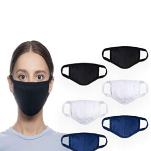 KomalC Knitted Comfortable Masks for Comfort and Easy Breath - Best Masks for Teachers: 2 Layers Mask