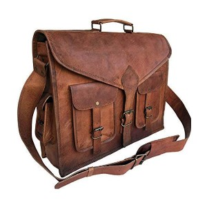 Komal's Passion Leather  Leather Briefcase Satchel Bag - Best Leather Satchel: Roomy Satchel Bag