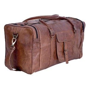 Komal's Passion Leather  Vintage Leather Duffel - Best Leather Duffel Bags: Vintage Leather Duffel Bag