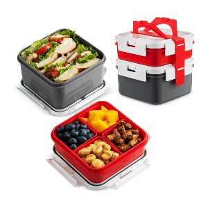 Komax Bento Lunch Box Containers With Strap - Best Lunch Boxes for Adults: Heavy-Duty Bento Box Set