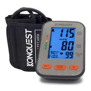Konquest KBP-2704A Automatic Upper Arm Blood Pressure Monitor - Best Blood Pressure Monitors for Small Arms: Perfect for travel
