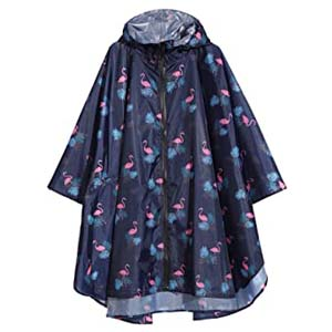 Krespuka Womens Rain Poncho Waterproof Raincoat - Best Raincoats with a Suit: Comes in 34 pattern choices