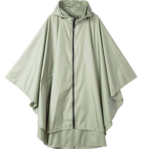 Krespuka Raincoat with Hood Zipper  - Best Raincoats for Festivals: Raincoat with Useful Pocket