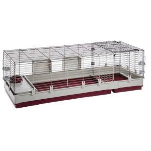 Ferplast Krolik XXL Rabbit Cage with Wire Extentions - Best Cage for Guinea Pigs: A lot of extra space