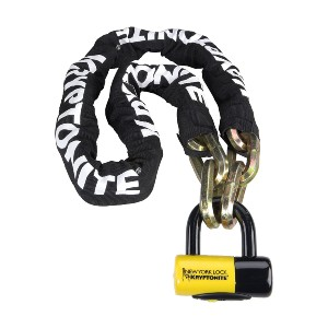 Kryptonite New York Fahgettaboudit Chain - Best Lock for Motorcycle: High Security Disc-Style Cylinder