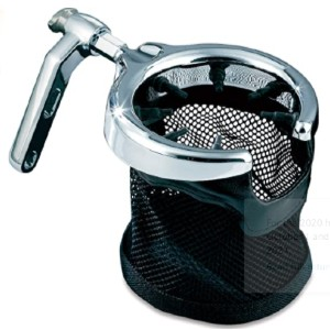 Kuryakyn Cup Holder with Mesh Basket - Best Motorcycle Drink Holders: Instant Accessibility to Your Beverage While On The Go