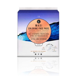 L. Organic  Cotton Maxi Pads - Best Organic Pads for Periods:  2x wider back
