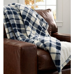 L.L.Bean Wicked Plush Sherpa Throw - Best Blanket for Couch: Reversible Soft Blanket