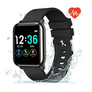 L8star Fitness Tracker Heart Rate Monitor-1.3'' - Best Fitness Trackers: Large Color Screen IP67 Waterproof Activity Tracker