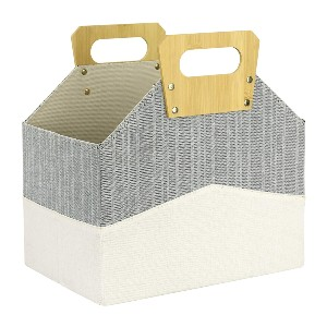 La Jolíe Muse Modern Chic Tweed Fabric Magazine Rack  - Best Magazine Storage: Eco-conscious solution