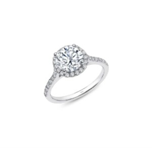 LAFONN 'Lassaire' Round Halo Ring - Best Rings for Women: Shiny Simulated Diamond Ring