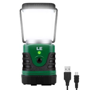 LE LED Camping Lantern Rechargeable - Best Rechargeable Lanterns: Rechargeable and 4400mAh Power Bank