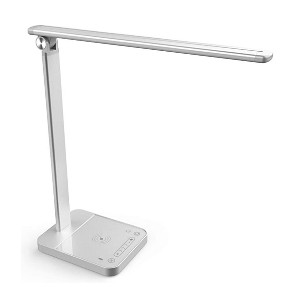 NAPATEK LED Desk Lamp with Wireless Charger - Best Lamp for Studying: A lamp and a charger in one product
