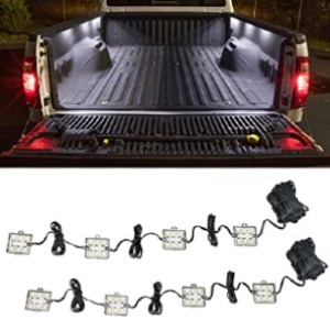 LEDGlow 8pc White Truck Bed Cargo LED Lighting Kit - Best LED Truck Bed Lights: Easy to use with switch