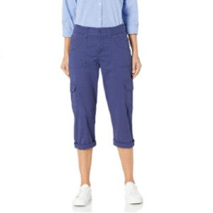 LEE Women's Relaxed-Fit Austyn Knit-Waist Cargo Capri Pant - Best Cargo Pants for Women: Best for Everyday Use