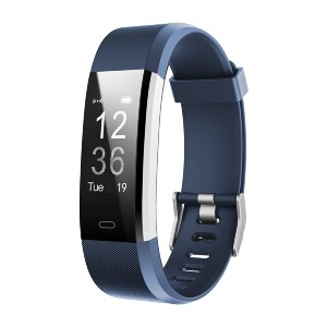 LETSCOM Smart Fitness Band  - Best Pulse Oximeter for Exercise: It records all-day activities