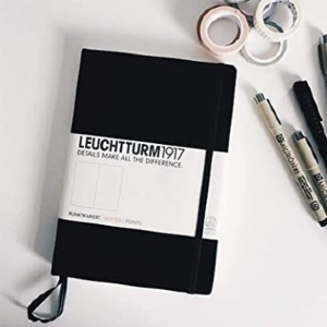 LEUCHTTURM1917 Medium A5 Dotted Hardcover Notebook - Best Notebook for Meeting Notes: Acid-free dotted paper