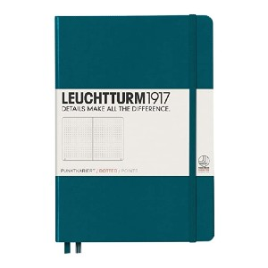 LEUCHTTURM1917 Medium A5 Dotted Hardcover Notebook - Best Notebook for Students: Matches your personality