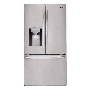 LG 26.2 Cu. Ft. French Door Smart Wi-Fi Enabled Refrigerator  - Best 3 Door Refrigerator: Never run out of ice