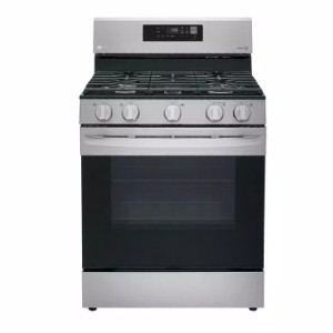 LG 5.8 cu. ft. Smart Gas Single Oven Range - Best Gas Ranges for the Money: It supports voice command