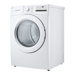LG 7.4 Cu. Ft. 8-Cycle Electric Dryer with FlowSense™ - White - Best Dryers Energy Efficient: Reminds you the cleaning time