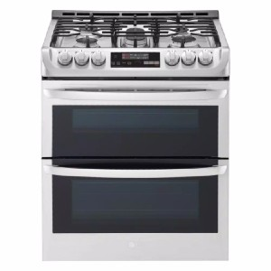 LG 6.9 cu. ft. Smart Double Oven Slide In Gas Range - Best Gas Ranges for Home: Largest capacity