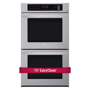 LG LWD3063ST 30 Inch Electric Double Wall Oven  - Best Double Wall Oven Electric: Fastest oven-cleaning