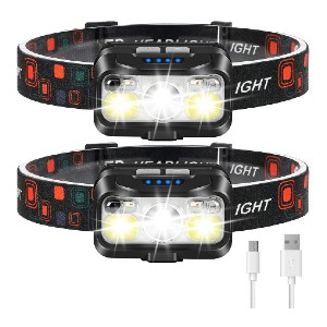 LHKNL Headlamp Rechargeable - Best Headlamps for Hunting: Super Bright and Motion Sensor