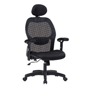 LIANFENG Store Ergonomic Office Chair - Best Office Chair with Headrest: Adjustable Lumbar Support and Headrest