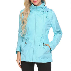 LOMON Waterproof Rain Jacket - Best Raincoats for Travel: Rain jacket with quick-drying material