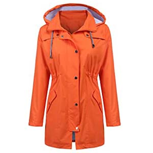LOMON Raincoat Women Waterproof - Best Raincoats for Cycling: Stylish rain jacket