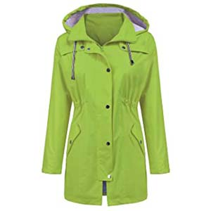 LOMON Raincoat Women Long Hooded Trench Coats - Best Raincoats Amsterdam: Appealing and true to size