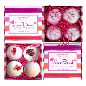 Pure Scentum Love Bomb - Best Bath Bombs for Sensitive Skin: Free of Parabens, SLS, Sulfates or Phthalates