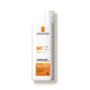 La Roche-Posay Anthelios Ultra Light Fluid Face Sunscreen Broad Spectrum SPF 60 - Best Sunscreen Non Comedogenic: Safe Ingredients Sunscreen