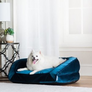 La-Z-Boy Tucker Bolster Dog Bed w/Removable Cover - Best Dog Beds for Medium Dogs: Bed with Sofa Design