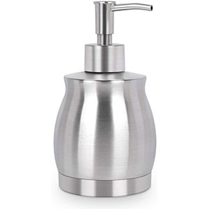 LaLa Dolce Stainless Steel Countertop Soap Dispenser  - Best Hand Sanitizer Dispenser: Versatile and Easy to Use and Refill