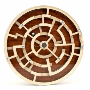 Kubiya Games Labyrinth Maze Puzzle - Best Wooden Puzzles: Can be Rotated Freely