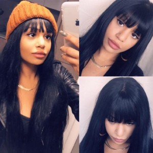 Mysecretwigs Lace Front Human Hair Wigs - Best Human Hair Wigs for African American: Half Machine Made and Half Hand Tied