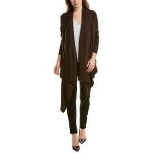 Lafayette 148 New York Cozy Cashmere Cardigan - Best Cashmere Cardigans: Waterfall Lapel and Ribbed Trim Cardigan