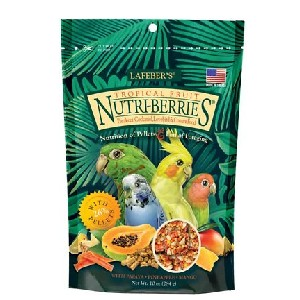 Lafeber Tropical Fruit Nutri-Berries Bird Food - Best Bird Food for Parakeets: Significant Number of Nutrients
