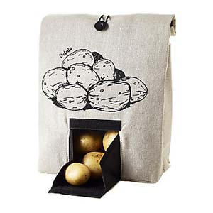 Lakeland Potato Bag with Button Tie Closure - Best Food Storage Container: No more rotting potatoes