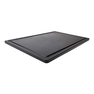 Thirteen Chefs Large Black Carving Board with Groove - Best Cutting Boards for Raw Meat: No visible stain