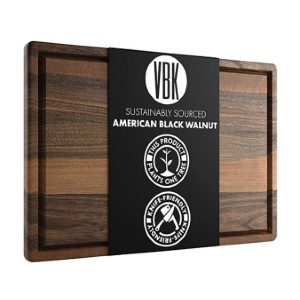Virginia Boys Kitchens Large Walnut Wood Cutting Board - Best Cutting Boards for Raw Meat: Works great, looks great