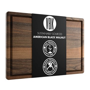 Virginia Boys Kitchens Large Walnut Wood Cutting Board - Best Cutting Boards for BBQ: Works great, looks great