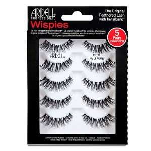 ARDELL Lash Demi Wispies 5 Pair Multipack - Best Lashes for Beginners: Dramatically Extenuate Your Eyes