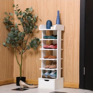 Latitude Run® Modern Multi Layer Wooden Shoes Racks - Best Shoe Racks for Small Spaces: Shoe Racks with Drawer