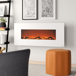 Zipcode Design™ Lauderhill 50.4'' W Surface Electric Fireplace - Best Electric Fireplace for Bedroom: Best wall-mounted pick
