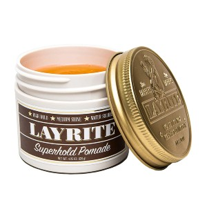 Layrite Superhold Pomade - Best Pomade for Thick Hair: Distributes Easily in Thick, Coarse Curly Hair