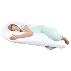 Leachco Back 'N Belly Chic Supreme Contoured Body Pillow - Best Pillow Pregnancy: Unique Shape for Equal Support