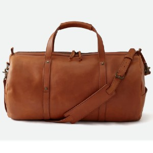 Huckberry Leather Gym Duffel - Best Duffel Bags for Women: Crafted from Premium Leathers from Mexico's Best Tannery
